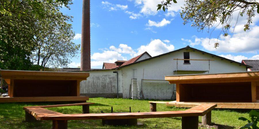 Shelterpladsen bag det gamle Errindlev Mejeri