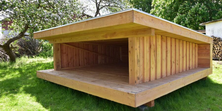 Shelterne blev bygget i foråret 2020, og er en luksusmodel